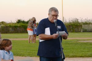 Paul Curtain MC of The Point Lookout Little League All-Star Game aug 29 2014